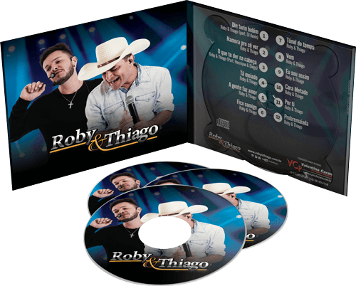 Capa do CD do Roby e Thiago